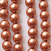 8mm 'Cinnamon' Round Glass Pearls [50]