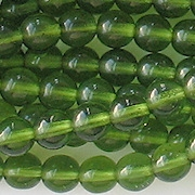 6mm Olive Green Beads [50]