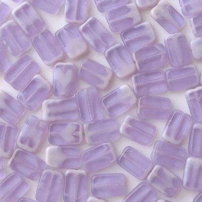 12mm Alexandrite Swirl Polished Rectangle Beads [20]