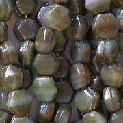 5mm Dark Olive Green Luster Nailhead Beads [50]