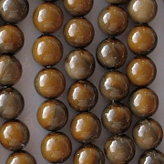 8mm Caramel Marble Coated Beads [44] (odd lot)