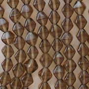 6mm Smoky Topaz (Brown) Bicone Beads [50]