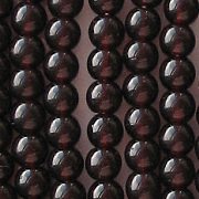4mm Brown-Garnet Red Round Beads [100]