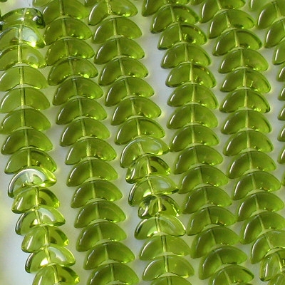 15mm Olive Green 'Angel Wing' Beads [50]