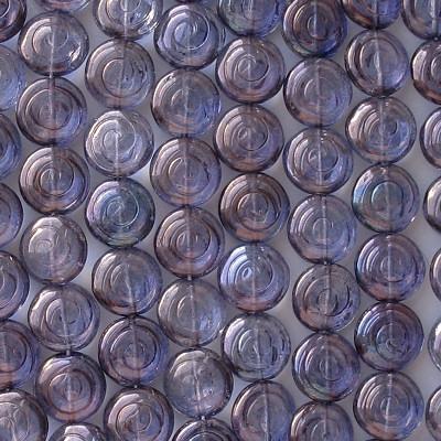 13mm Amethyst Luster 'Cinnamon Bun' Beads [20]