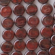 8mm Red Luster Coin Beads [50]