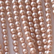 4mm Dusky Pink Glass Pearls [118+]