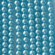4mm Aqua Round Glass Pearls [118+]