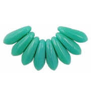 10mm Turquoise Dagger Beads [99] (odd-lot)
