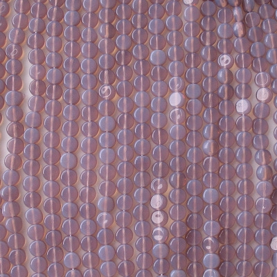 5mm Purple Opalescent Coin Beads [100]