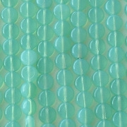 5mm Light Teal Opalescent Coin Beads [100]