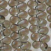 8mm Gray Teardrop Beads [50]