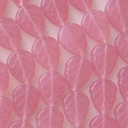 10mm Milky Pink Leaf Beads [50]