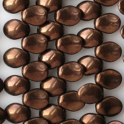 6x8mm Dark Bronze-Colored Petal Beads [50]