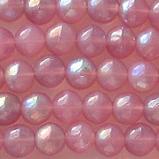 6mm Milky Pink AB Round Beads [50]