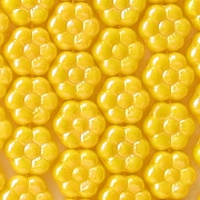 8mm Opaque Yellow Luster Daisy Beads [50]