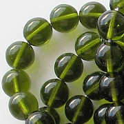 8mm Olive Green Round Beads [50]