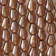 6mm Bronze-Luster Teardrop Beads [100]