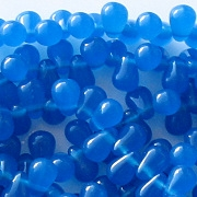 6mm Milky Indigo Blue Teardrop Beads [100]
