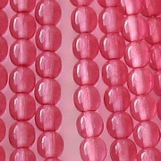 4mm Pink Coated Round Beads [118+]