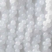 2x4mm Milky White 'Farfalle' Beads [290+]