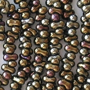 2x4mm Brown Iris 'Farfalle' Beads [290+]