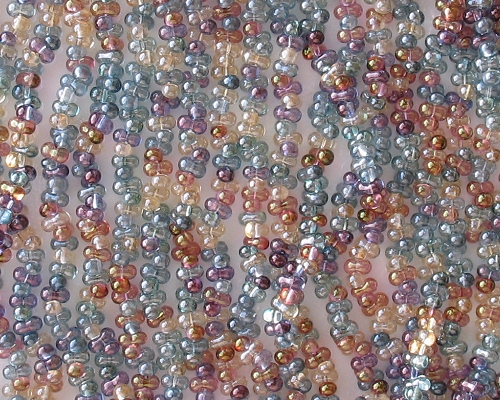 2x4mm Mixed Luster 'Farfalle' Beads [290+]