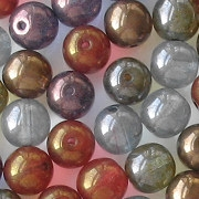 8mm Mixed Luster Round Beads [50]