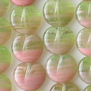 11x12mm Green/Pink Apple Beads [50]
