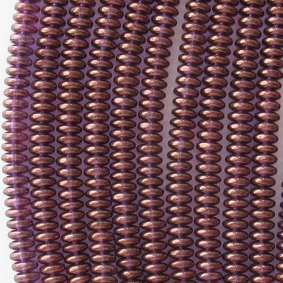 2x6mm Alexandrite/Gold Luster Rondelle Beads [100]