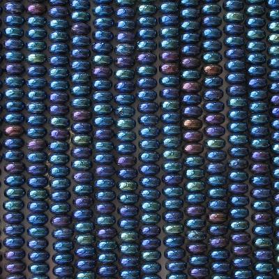 2x4mm Dark Blue Iris Rondelle Beads [100]