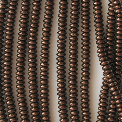2x4mm Dark Bronze Rondelle Beads [100]