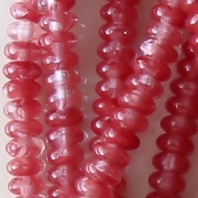 2x4mm Maroon/Clear Rondelle Beads [100]