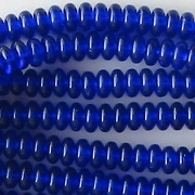 2x4mm Cobalt Blue Rondelle Beads [100]