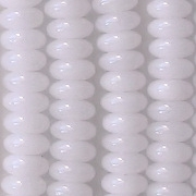 2x4mm White Rondelle Beads [100]