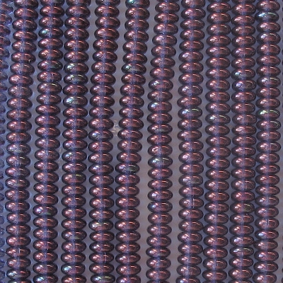 2x4mm Amethyst Gold-Luster Rondelle Beads [100]