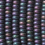 2x4mm Purple Iris Rondelle Beads [100]