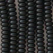 2x4mm Black Matte Rondelle Beads [100] (see Comments)