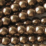 6mm Medium-Dark Bronze Glass Beads [50]