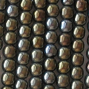 4mm Brown Iris Round Beads [100]