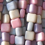 6mm Mixed Pastel Square Beads [50]