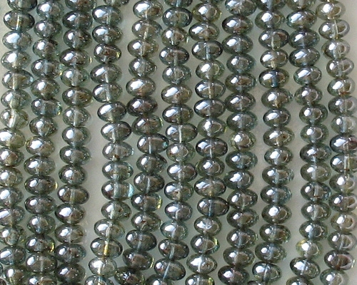4x6mm Forest Green Luster Nugget Beads [50]
