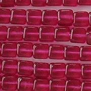 4.5x6mm Fuchsia Cube Beads [50]