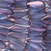 16mm Amethyst Luster Dagger Beads [50]