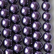 6mm Medium Purple Round Glass Pearls [50] (see Comments)