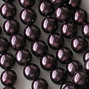 6mm Plum Purble Round Beads [75]
