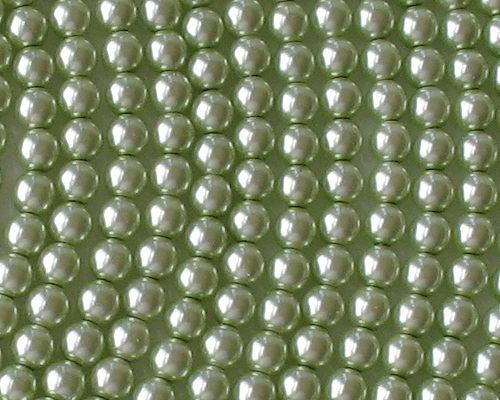 6mm Light Green Round Glass Pearls [50]