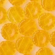12mm Yellow-Orange Double-Hole Sunflower Beads [50]