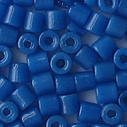 4.5mm Capri Blue Cylinder Beads [125] (see Defects)