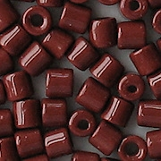 4.5mm Reddish-Brown Cylinder Beads [150] (see Defects)
